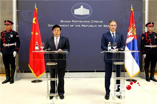 催英魁与赵克志_赵克志与塞尔维亚副总理兼内务部长斯特凡诺维奇举行会谈