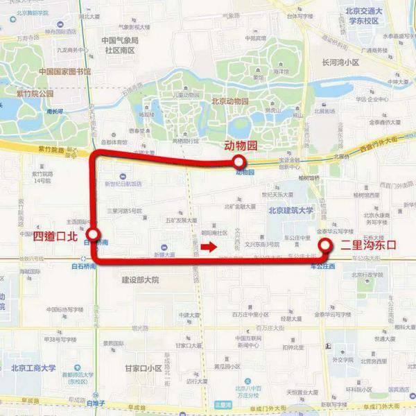 北京公交增开动物园公交摆渡车和两条故宫摆渡专线