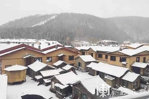 寒露时节,雪乡迎大雪