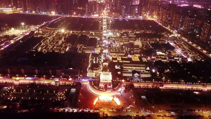 璀璨若天上宫阙,航拍青岛即墨古城正月夜色