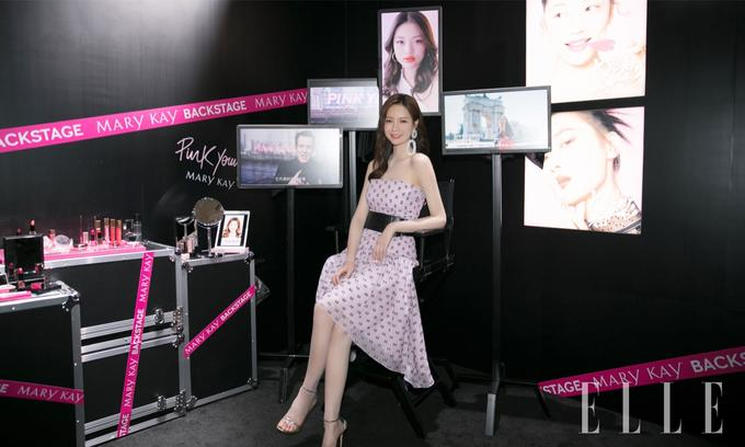 發布會嘉賓沈夢辰在試用了 Pink Young 全新單品后大呼種草。