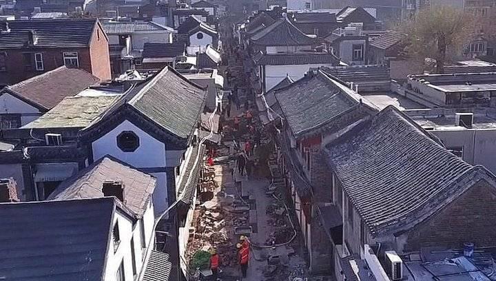 果然视频 济南芙蓉街工程过半,航拍老城新貌