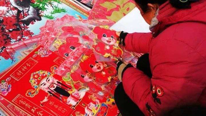 果然视频|过腊八就是年,济南的农村大集年味浓了