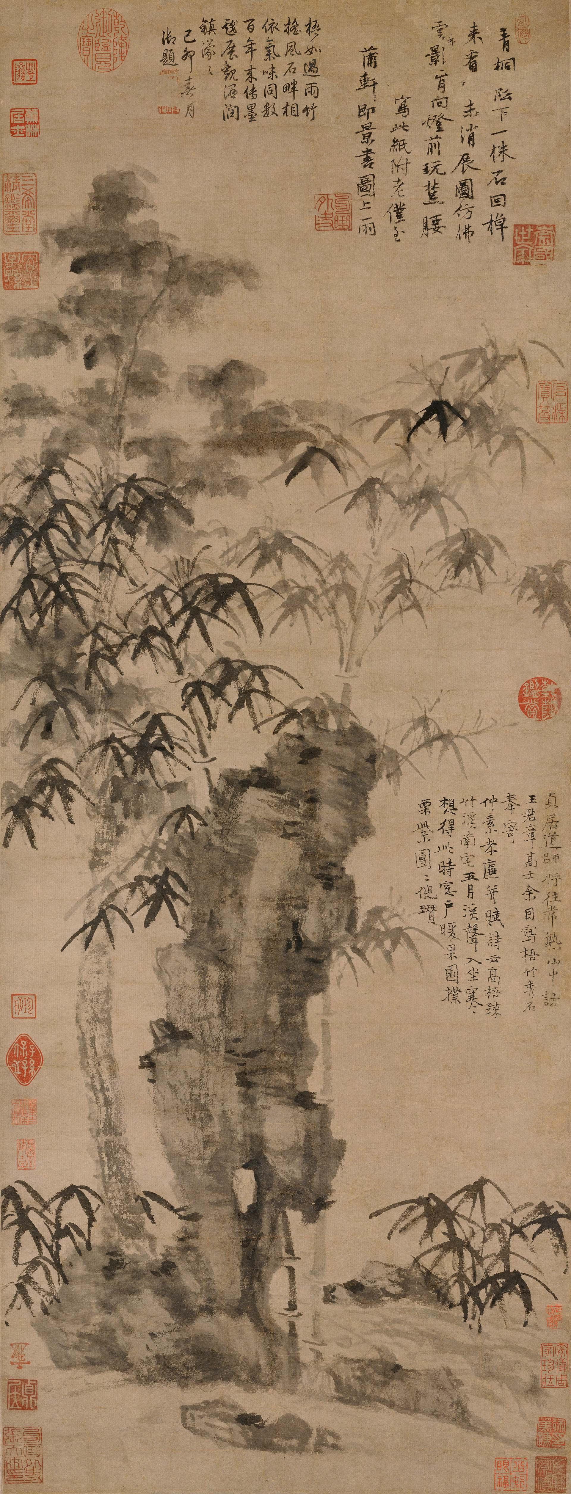 Пейзаж в средневековой китайской живописи. Ни Цзань. «Дерево, бамбук, и изящный камень»