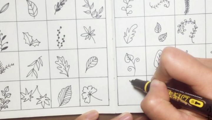 3分钟,教你画漂亮的48种叶子,在家和孩子练手吧~