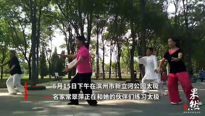 果然视频|新立河公园偶遇太极名家常翠萍练习太极