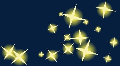 星星透明底色素材